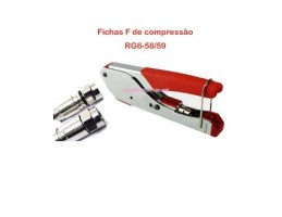 Alicate Cravar Ficha F COMPR. RG6/59 - STD